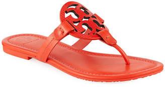 Tory Burch Miller Logo Flat Leather Sandals