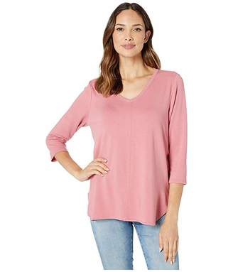 FDJ French Dressing Jeans Baby French Terry V-Neck 3/4 Sleeve Top
