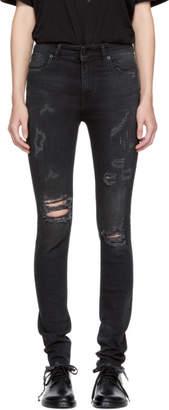 Marcelo Burlon County of Milan Black Distressed Kateun Skinny Jeans