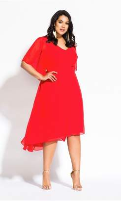 City Chic Citychic Adore Dress- tigerlily