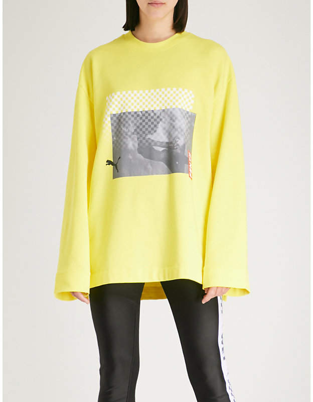 Logo-print cotton-blend sweatshirt