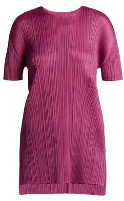 Pleats Please Issey Miyake Pleated Tunic Top - Womens - Pink