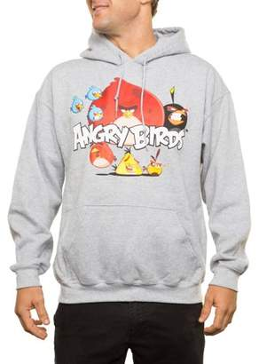 Angry Birds Big Men's Angry Group Pullover Fleece Hoodie, 2XL
