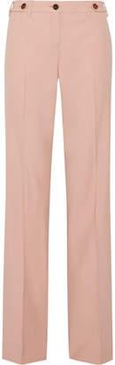 Miu Miu Grain De Poudre Stretch-wool Wide-leg Pants - Blush