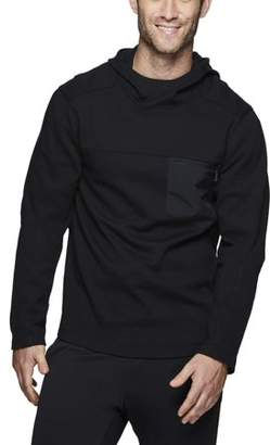 RBX Men's Double Knit Pullover Hoodie with Woven Pocket Top