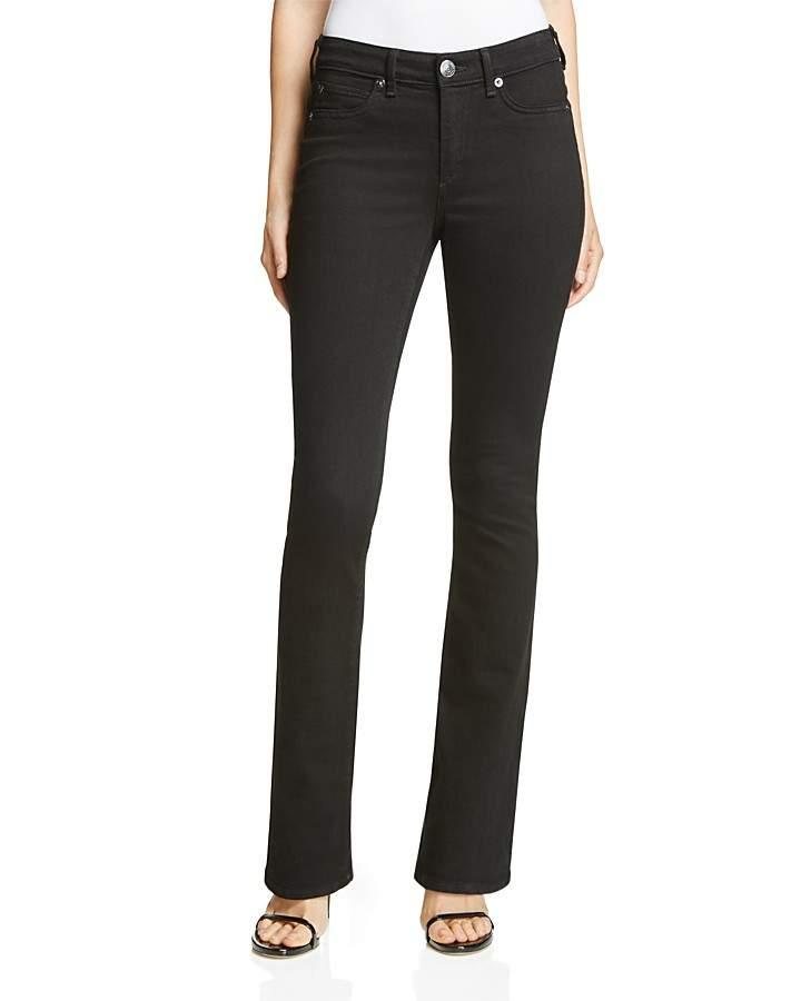True Religion Jennie Curvy Bootcut Jeans in Jet Black