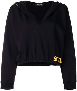 Styland oversized hood cropped sweater