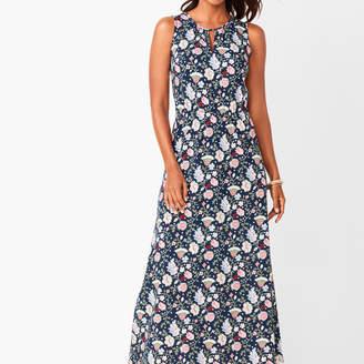 Talbots Floral Keyhole Maxi Dress