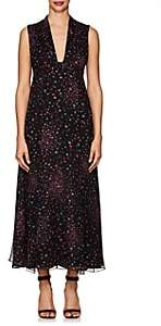 Barneys New York Women's Floral Plissé Silk Maxi Dress - Black