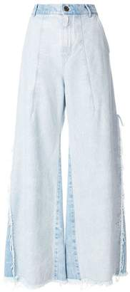 Chloé distressed flared jeans