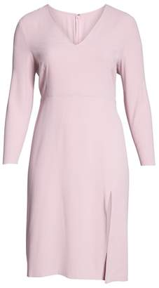 Leith Long Sleeve High Slit Midi Dress