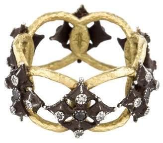 Armenta Diamond Maltese Cross Open Ring