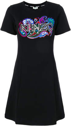 Kenzo embroidered sweatshirt dress