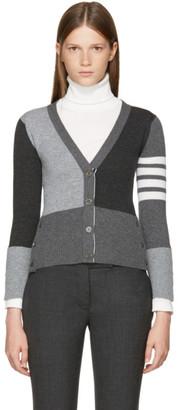 Thom Browne Grey Classic V-Neck Funmix Cardigan $1,790 thestylecure.com
