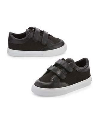 Burberry Heacham Solid Canvas Sneaker, Black, Infant $165 thestylecure.com