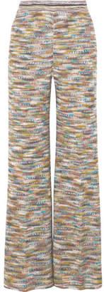 Missoni Crochet-knit Wide-leg Pants - Yellow