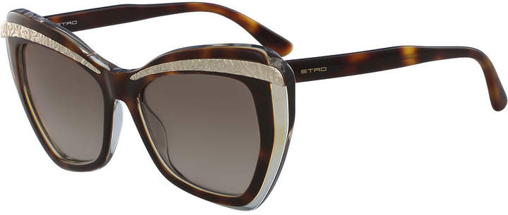 Etro Paisley Butterfly Sunglasses