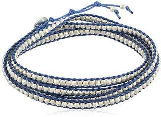 Chan Luu Silver on Periwinkle Cord Wrap Bracelet
