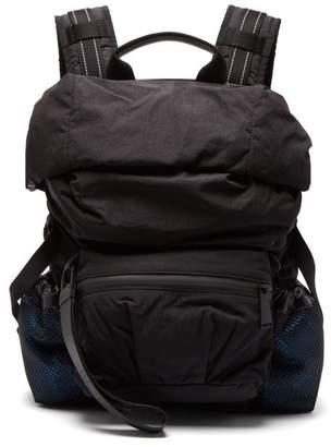 Bottega Veneta Roll Top Technical Backpack - Mens - Black Blue