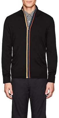 Paul Smith Men's Striped Wool Zip-Front Cardigan