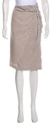 Band Of Outsiders Striped Knee-Length Skirt