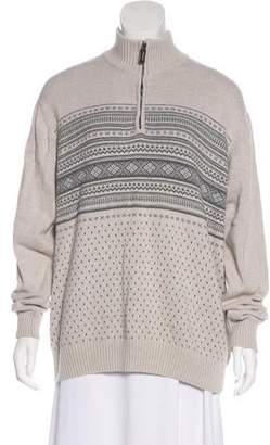 Oscar de la Renta Long Sleeve Knit Sweater