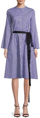 MDS Stripes Stripe Shirtdress