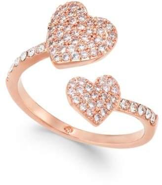 Kate Spade Rose Gold-Tone Pavé Heart Ring