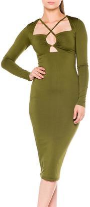 Bella Olive Midi Dress $80 thestylecure.com