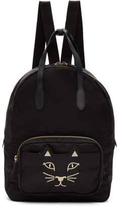 Charlotte Olympia Black Nylon Feline Backpack