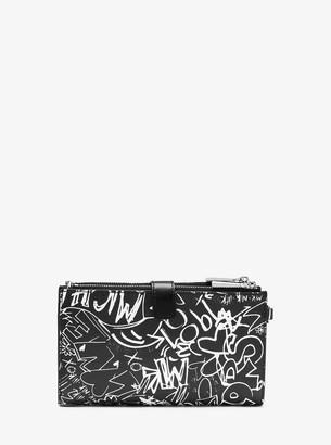 MICHAEL Michael Kors Adele Graffiti Leather Smartphone Wristlet