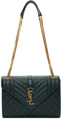 Saint Laurent Green Medium Envelope Chain Bag