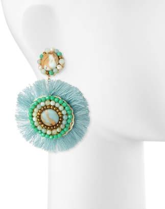 Panacea Amazonite Fringe Circle Earrings