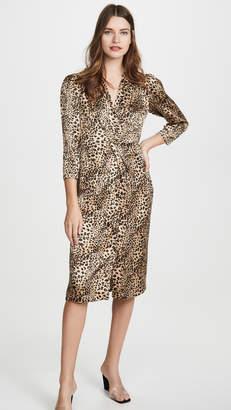 Rebecca Taylor Long Sleeve Lynx Silk Dress