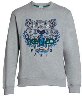 Kenzo Classic Tiger Embroidery Cotton Sweatshirt