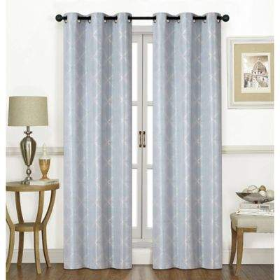 United Curtain Chandler 63-Inch Grommet Window Curtain Panel Pair in Aquamarine