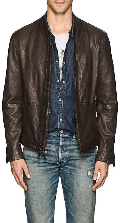 John Varvatos Star U.S.A. Men's Leather Racer Jacket