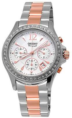 Orient Women's Chronograph Quartz Watch with Stainless Steel Strap FTW00003W0