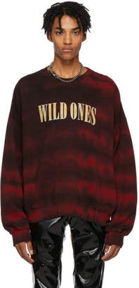Amiri Red Tie-Dye Wild Ones Sweatshirt