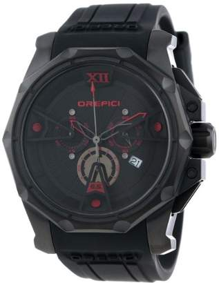 Orefici ' Edizione Speciale' Swiss Quartz Stainless Steel and Rubber Casual Watch