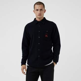 Burberry Embroidered Archive Logo Wool Cashmere Overshirt