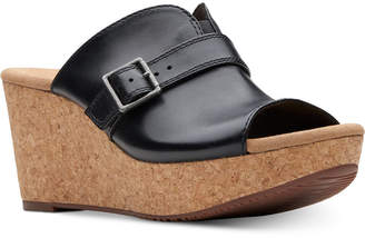 Clarks Collection Women's Annadel Holly Wedge Sandals Women's Shoes