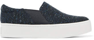 Vince Warren Tweed Slip-on Sneakers - Navy
