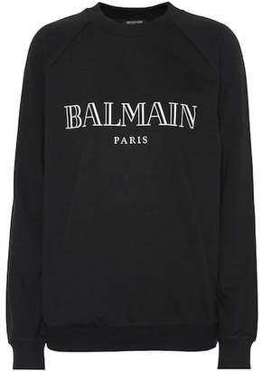 Balmain Printed cotton sweatshirt