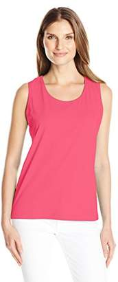 Fresh Women's Basic Rib Trimmed Tank Top