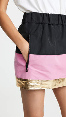 No.21 No. 21 Two Tone Miniskirt