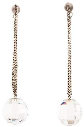 Baccarat Crystal Faceted Drop Earrings