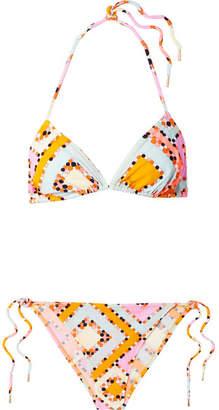 Emilio Pucci Printed Triangle Bikini - Peach