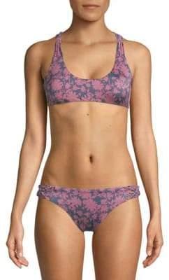 Dolce Vita Macrame Floral Bikini Top