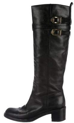 Gucci Leather Knee-High Boots
